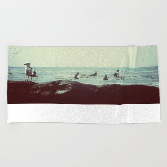 coastal vibes Beach Towel