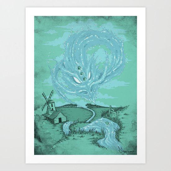 The River's Fierce Ascension Art Print