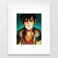 viria Framed Art Prints featuring the son of neptune by viria