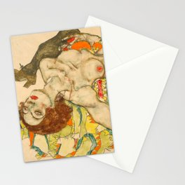 """Egon Schiele """"Female Lovers"""" Stationery Cards"""
