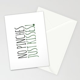 No Pinches Just Kisses Stationery Cards