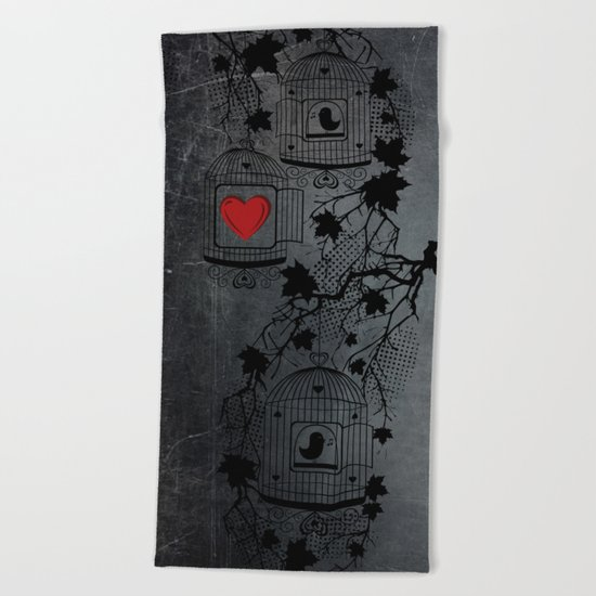 Cages Beach Towel