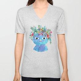 Flower cat II Unisex V-Neck
