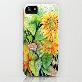 Colorful Sunflowers iPhone Case