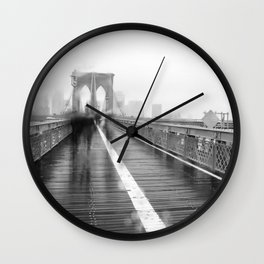 Brooklyn Bridge and Rain Wall Clock