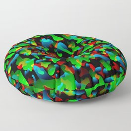 Creative spotted green and colored spots and splashes of paint. Floor Pillow