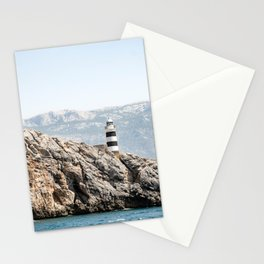 Beautiful Lighthouse at Mallorca, Spain Stationery Cards