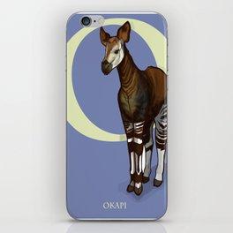 O is for Okapi: Under Appreciated Animals™ ABC nursery decor purple unusual animals iPhone Skin