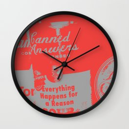 Canned Answers Wall Clock