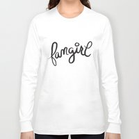 fangirl Long Sleeve T-shirts featuring fangirl by Fortissimo6