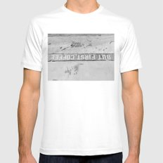 But First, Coffee White Mens Fitted Tee MEDIUM