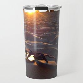 Flip Flops On The Beach Travel Mug