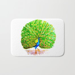 Impossibly Peacock Bath Mat