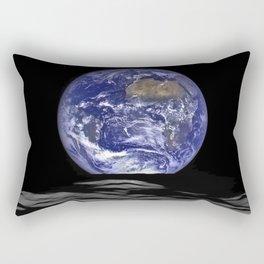 Earth Rising over the Horizon of the Moon Rectangular Pillow
