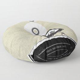 Music Evolution Art Floor Pillow
