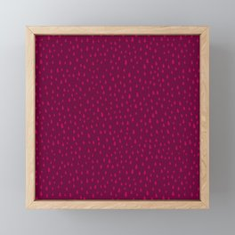 Raspberry Paint Drops Framed Mini Art Print