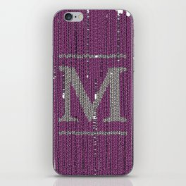 Winter clothes II. Letter M iPhone Skin