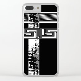 Creative Black and white pattern . The braided belts . Clear iPhone Case