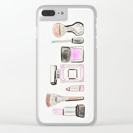 Morning Routine Clear iPhone Case
