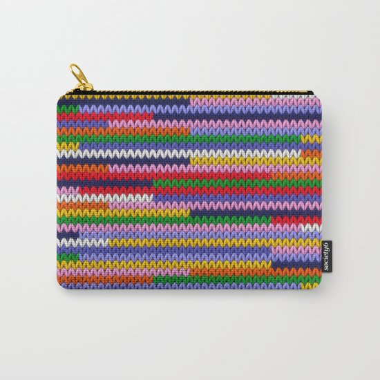 Knitted random lines Carry-All Pouch
