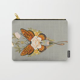 Butterfly Peonies Tattoo Carry-All Pouch