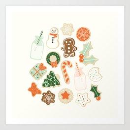 Christmas Cookies Art Print