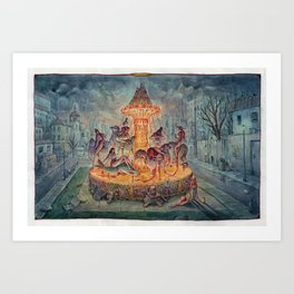 Carousel of Doom Art Print