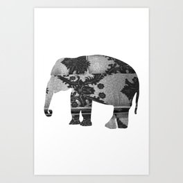 Elephant (The  Living Things Series)  Art Print