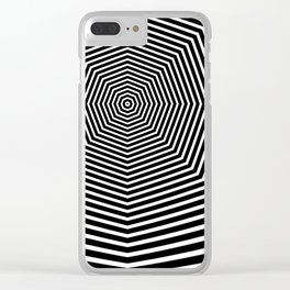 Black an White Hypnosis Clear iPhone Case