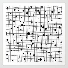 Woven Web black and white Art Print