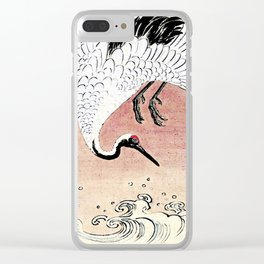 Crane and Wave Clear iPhone Case