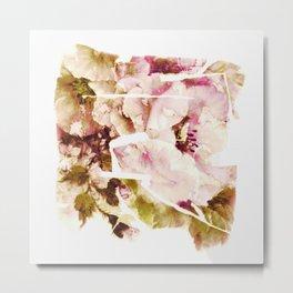 slashed floral Metal Print