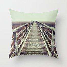 Gray's Beach Cape Cod Throw Pillow
