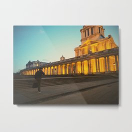 London views | University of Greenwich | Night times | Photography Metal Print