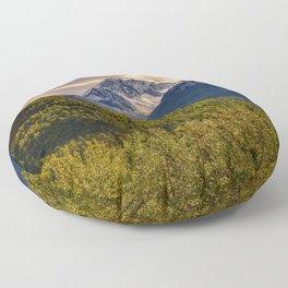 Termination Dust - Glenn Highway, Alaska Floor Pillow