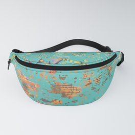 Aqua Bohemian Textile Art Fanny Pack