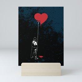 Heart Painter Graffiti Love Mini Art Print