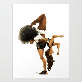 Yoga & Yogi Art Print
