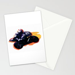 High Speed Motorcycle Racer Stationery Cards