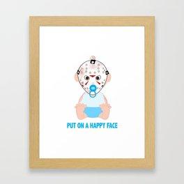 Put on a Happy Face Framed Art Print