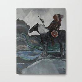 Watcher Sioux Warrior Tribe Metal Print