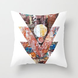 The blue line triangles II Throw Pillow