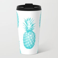 Teal Pineapple Travel Mug