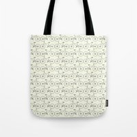 bicycles Tote Bags featuring Bicycles by superdumb