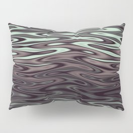 Ripples Fractal in Mint Hot Chocolate Pillow Sham