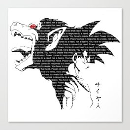 Goku Great Ape Dragon Ball T-Shirt Anime One Piece Death Note One Punch Man Saitama Tokyo Ghoul Canvas Print