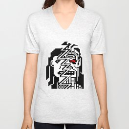 Teletext Monster Girl Unisex V-Neck