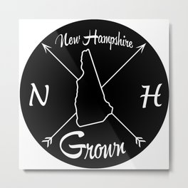 New Hampshire Grown NH Metal Print
