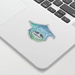 Manta ray Magic Sticker