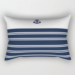 Striped Anchor Print Rectangular Pillow